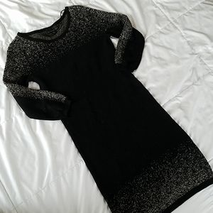 Attention black & gold bodycon sweater dress